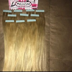 Accessories - Remy Tape Hair Extensions Ash Blonde 10 pieces